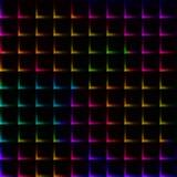 Helder de kleurennet van de neonregenboog met doornen - naadloze achtergrond Stock Foto's