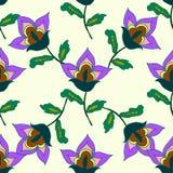 Helder de zomer bloemen naadloos patroon Royalty-vrije Stock Fotografie