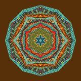 Helder Etnisch Geometrisch Patroon Stock Foto