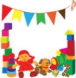 Helder frame met speelgoed Royalty-vrije Stock Fotografie