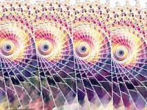 Helder gebrandschilderd glas stock illustratie