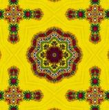 Helder geel Etnisch patroon Royalty-vrije Stock Afbeelding
