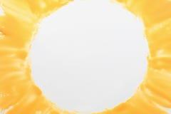 Helder geel kader op witte vrije ruimte Royalty-vrije Stock Afbeeldingen