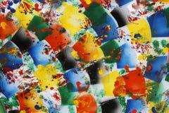 Helder gekleurde abstracte achtergrond Stock Afbeelding