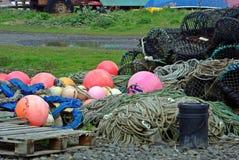 Helder gekleurde boeien stock fotografie
