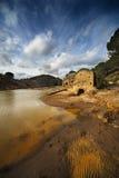 Helder gekleurde rivier Royalty-vrije Stock Foto