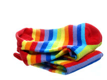 Helder gekleurde sokken Royalty-vrije Stock Foto