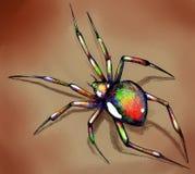Helder gekleurde spin Royalty-vrije Stock Afbeeldingen