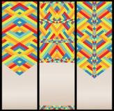 Helder Geometrisch Patroon bij Reeks Kaarten Stock Fotografie