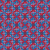 Helder gestileerd symmetrisch eindeloos patroon, ononderbroken creatieve a vector illustratie