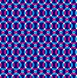 Helder gestippeld naadloos patroon, rode en blauwe cirkels Stock Afbeelding