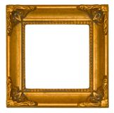 Helder gouden antiek frame Stock Foto
