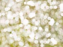 Helder Gouden Zilveren Dot Background Stock Illustratie