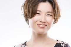 Helder het Glimlachen Japans Vrouwenportret Royalty-vrije Stock Foto