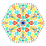 Helder Hexagon Ornament Stock Afbeelding