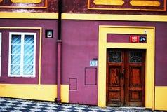 Helder huis in Praag Stock Afbeelding