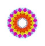 Helder kleuren radiaal patroon royalty-vrije illustratie