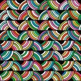 Helder kleurrijk naadloos patroon Getrokken hand Stock Foto