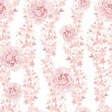 Helder kleurrijk naadloos patroon met bloemen van rozen en pioen royalty-vrije illustratie