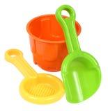 Helder kleurrijk plastic strandspeelgoed Royalty-vrije Stock Afbeeldingen