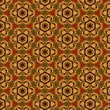 Helder kleurrijk symmetrisch naadloos bloemenpatroon vector illustratie