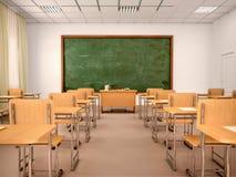 Helder leeg klaslokaal voor lessen en opleiding royalty-vrije illustratie