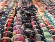 Helder levendig patchytextile tapijt Stock Afbeelding