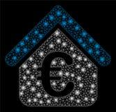 Helder Mesh Network Euro Loan Real-Landgoed met Gloedvlekken stock illustratie