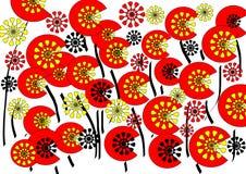 Helder modern abstract bloemenontwerp op witte achtergrond royalty-vrije stock fotografie