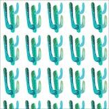 Helder mooi verfijnd Mexicaans tropisch bloemen kruiden de zomer groen naadloos patroon van Hawaï van een cactusverf zoals kindve Royalty-vrije Stock Foto