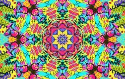 Helder multi-colored onordelijk patroon Royalty-vrije Stock Afbeeldingen