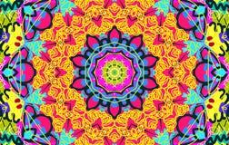 Helder multi-colored onordelijk patroon Stock Foto's