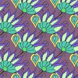 Helder multicolored hand getrokken bloemen naadloos patroon Royalty-vrije Stock Foto's