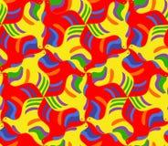 Helder naadloos mozaïekpatroon van vliegende duiven Royalty-vrije Stock Afbeelding