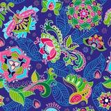 Helder naadloos patroon in de stijl van Paisley Stock Afbeeldingen