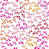 Helder naadloos patroon met blad Stock Fotografie