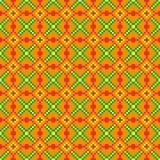 Helder naadloos stikkend patroon op een oranje achtergrond vector illustratie