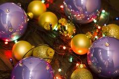 Helder Nieuwjaarspeelgoed Stock Afbeelding