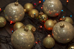 Helder Nieuwjaarspeelgoed Royalty-vrije Stock Afbeelding