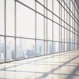 Helder open planbinnenland met grote vensters Royalty-vrije Stock Foto