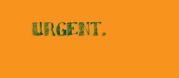Helder oranje dringend bericht Royalty-vrije Stock Fotografie