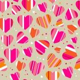 Helder patroon met harten Stock Foto's