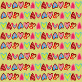 Helder patroon met leuke kleurrijke harten Stock Fotografie