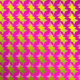 Helder patroon met purpere achtergrond en dubbele sterren vector illustratie