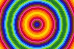 Helder radiaal patroon stock illustratie