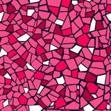 Helder roze abstract mozaïek naadloos patroon Het kan voor prestaties van het ontwerpwerk noodzakelijk zijn De kleurrijke rode ge Stock Foto