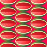 Helder sappig watermeloen naadloos geometrisch patroon Stock Fotografie