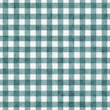 Helder Teal Gingham Pattern Repeat Background Royalty-vrije Stock Foto's