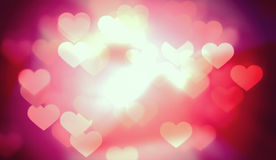 Helder Valentine Heart Lights Background Royalty-vrije Stock Fotografie
