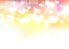 Helder van de valentijnskaartdag malplaatje als achtergrond Royalty-vrije Stock Fotografie
